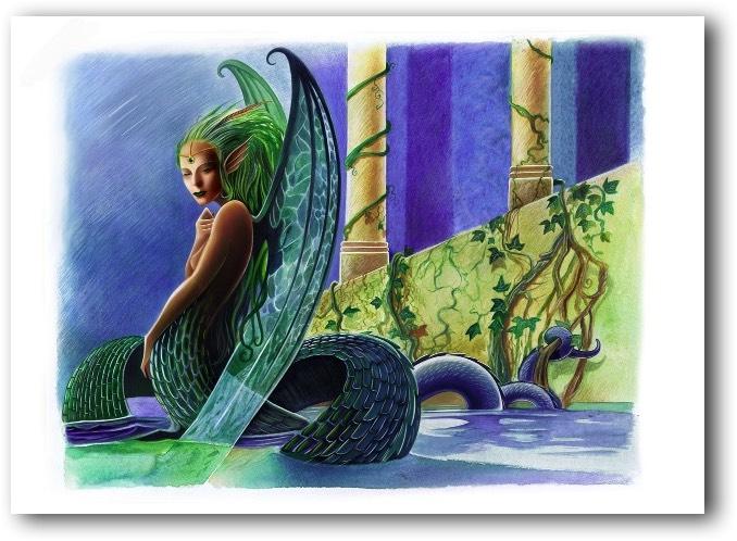 Vouivre féminine, dessin de Hervé GOURDET (DR)