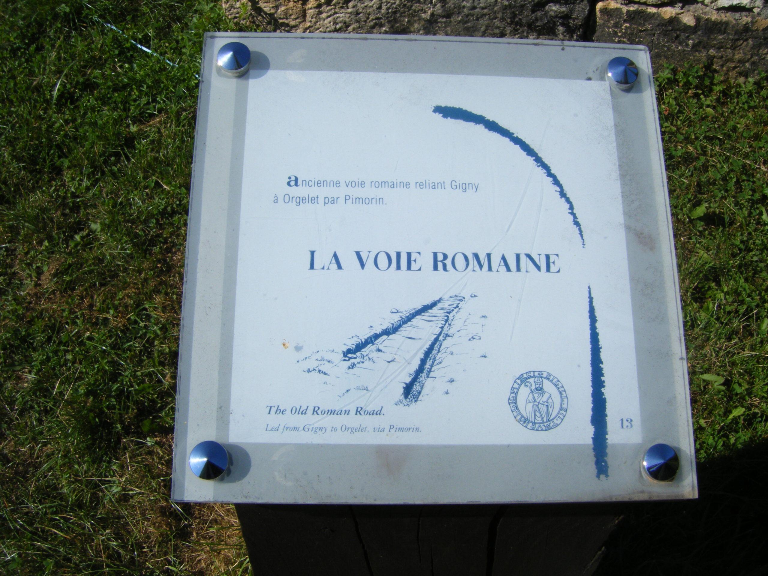 Signalétique Voie Romaine à Gigny
