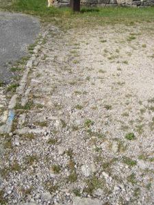 vestiges voie romaine à Gigny