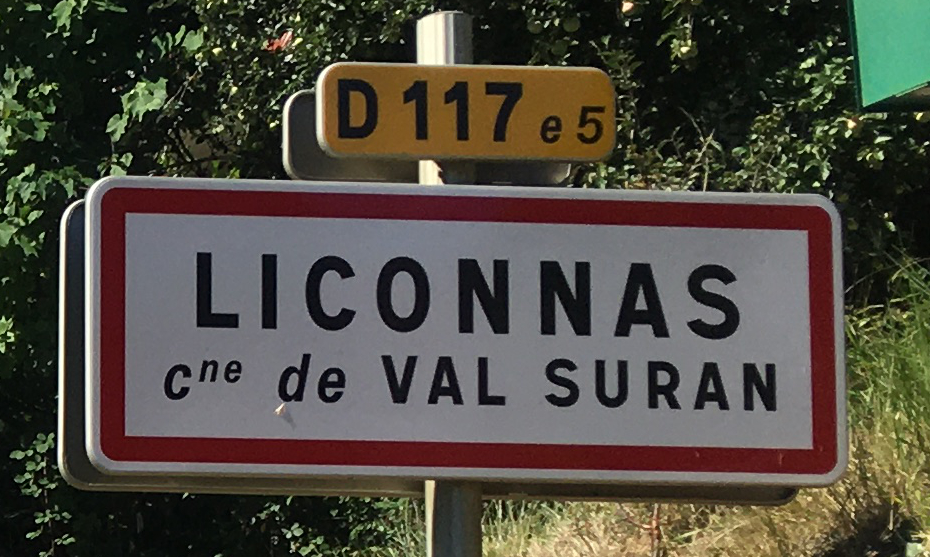 Panneau d'agglomération Liconnas