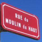 Panneau Rue du Moulin du haut