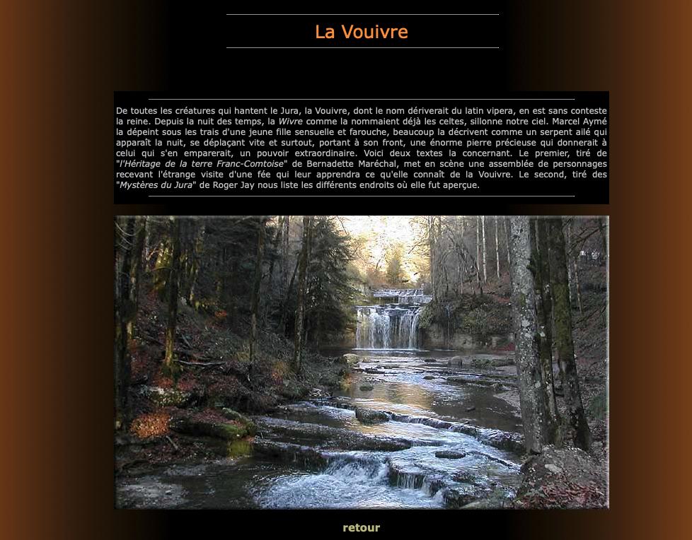 Vignette d'accès à la page Vouivre du site de Jean-Michel Guyon