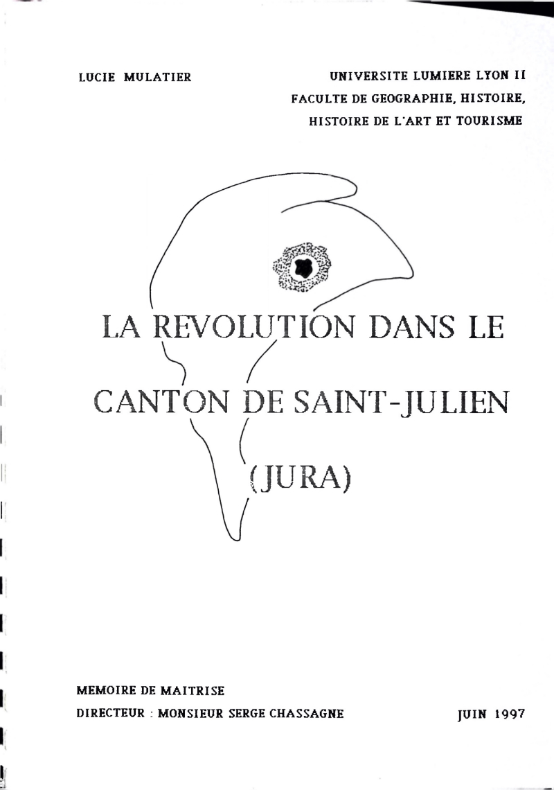 page titre du mémoire de Lucie MULATIER
